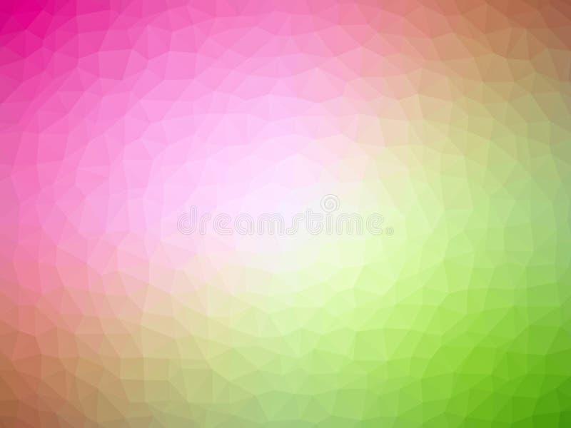 Abstrakcjonistycznego trójboka geometrical tło w kolorach tęcza, graniastosłupowi kształty z delikatnymi liniami ilustracji