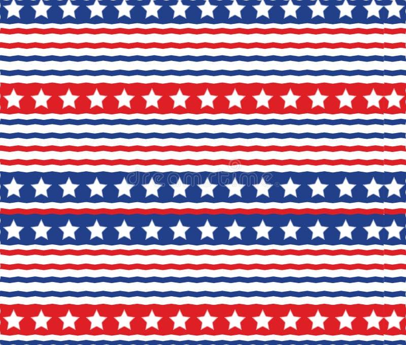 Abstrakcjonistycznego usa gwiazd lampasa wzoru tekstury Amerykański Patriotyczny tło ilustracji