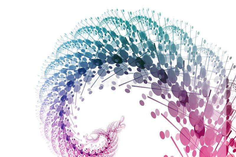 abstrakcjonistycznego władze tła niebieska fioletowego fale ilustracji