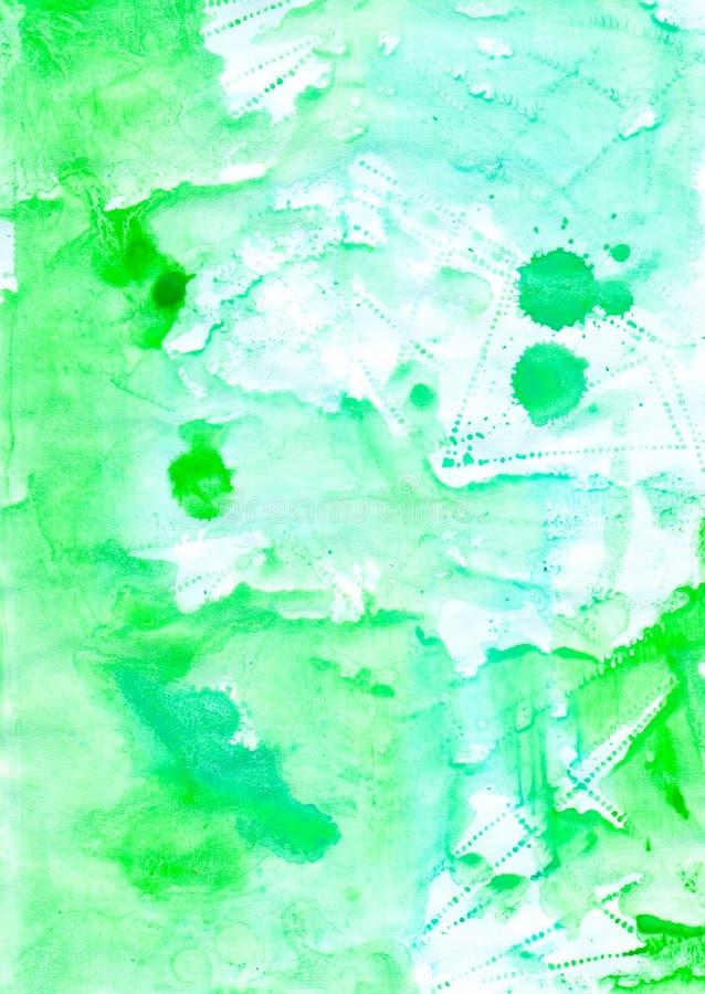 Abstrakcjonistycznego watercolour żywy tło dla z projektem royalty ilustracja