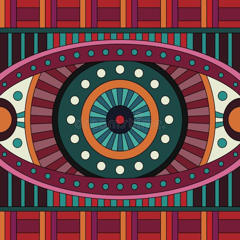 Abstrakcjonistycznego wektorowego plemiennego pochodzenia etnicznego bezszwowy wzór ilustracji
