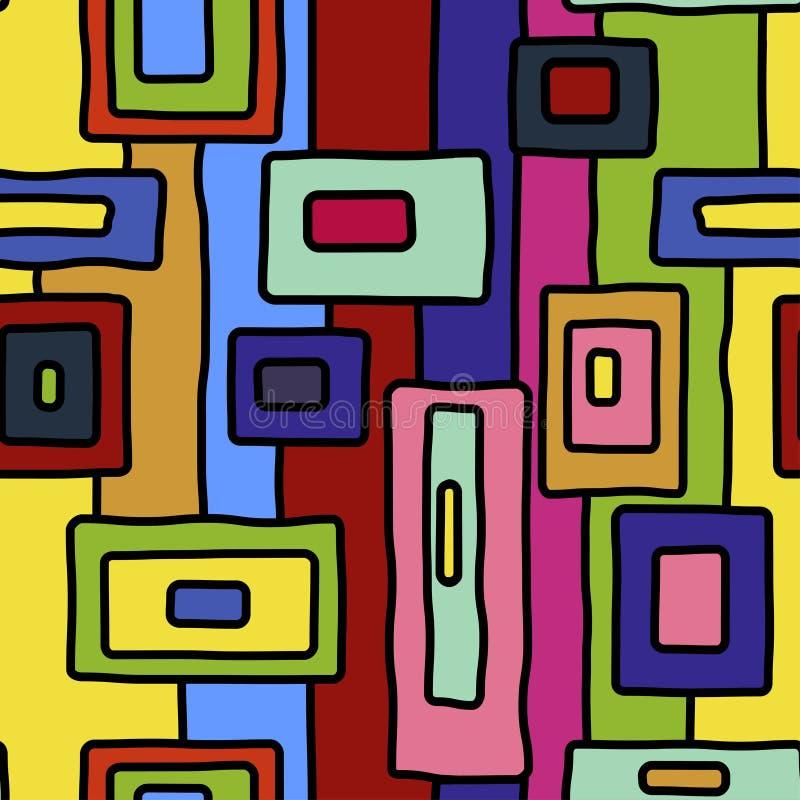 Abstrakcjonistycznego wibrującego aborygenu wektorowy bezszwowy wzór royalty ilustracja