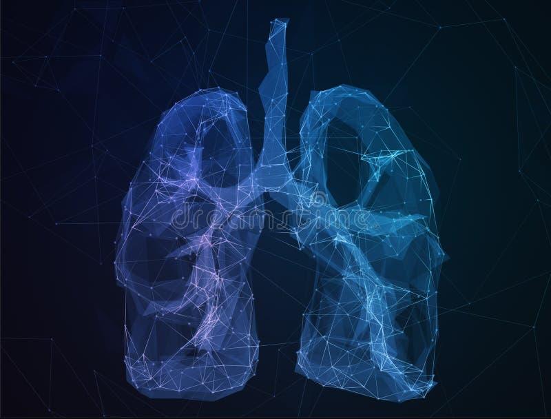 Abstrakcjonistycznego wizerunku ludzcy płuca w formie linie obraz stock