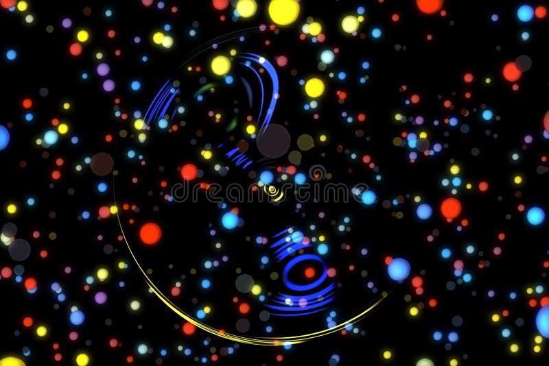 Abstrakcjonistycznego wizerunku tła rozjarzone cząsteczki ilustracja wektor