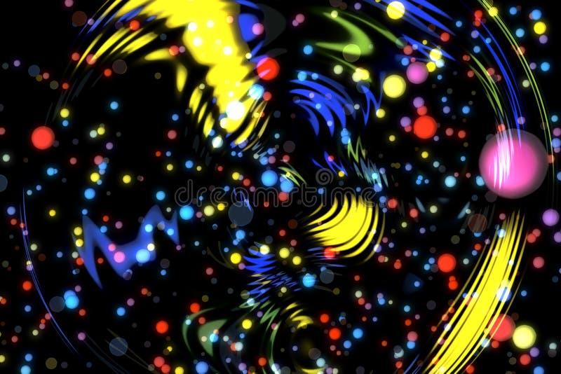 Abstrakcjonistycznego wizerunku tła rozjarzone cząsteczki ilustracji