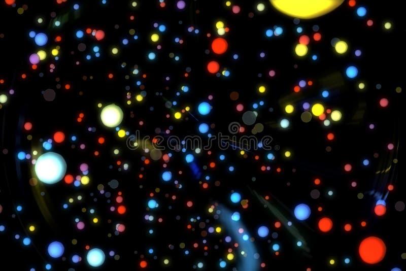 Abstrakcjonistycznego wizerunku tła rozjarzone cząsteczki royalty ilustracja