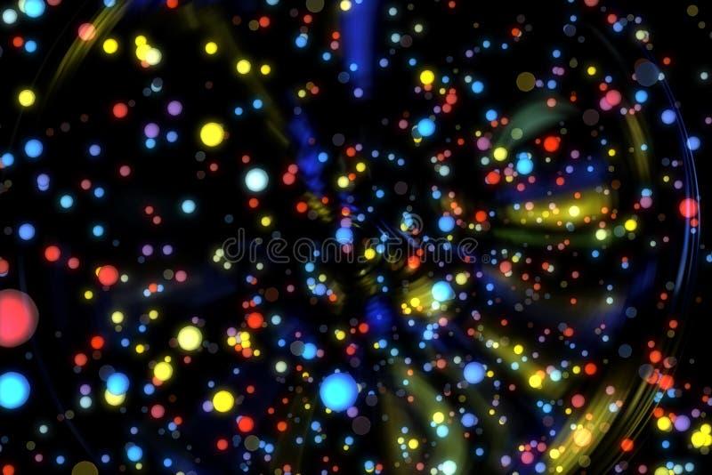 Abstrakcjonistycznego wizerunku tła rozjarzone cząsteczki zdjęcia royalty free