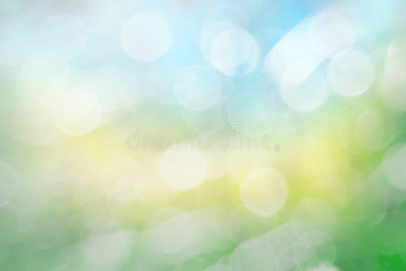 Abstrakcjonistycznego zamazanego tła natury piękny zielony błękit obraz royalty free