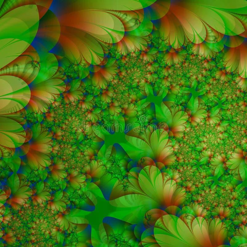 abstrakcjonistycznego zieleni tła roślin o gęstości życia royalty ilustracja