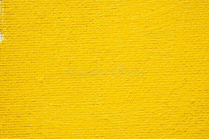 Abstrakcjonistycznej żółtej tła grunge białej granicy żółty kolor z białymi brezentowymi krawędziami, rocznika grunge tła tekstur zdjęcia royalty free
