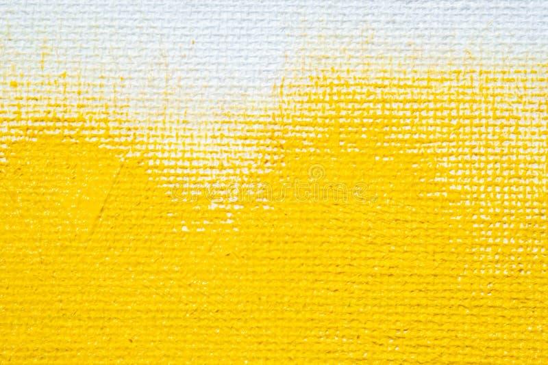 Abstrakcjonistycznej żółtej tła grunge białej granicy żółty kolor z białymi brezentowymi krawędziami, rocznika grunge tła tekstur zdjęcie royalty free
