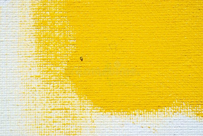 Abstrakcjonistycznej żółtej tła grunge białej granicy żółty kolor z białymi brezentowymi krawędziami, rocznika grunge tła tekstur zdjęcia stock