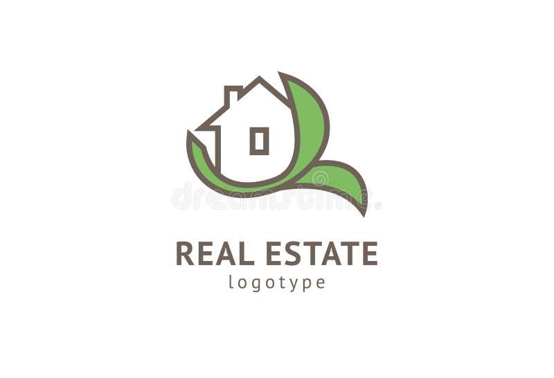 Abstrakcjonistycznej agenta nieruchomo?ci loga ikony wektorowy projekt Czynsz, sprzeda? nieruchomo?? wektorowy logo, Domowy czy?c ilustracja wektor