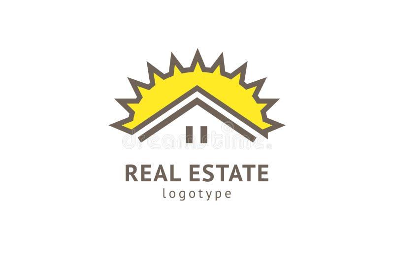 Abstrakcjonistycznej agenta nieruchomo?ci loga ikony wektorowy projekt Czynsz, sprzeda? nieruchomo?? wektorowy logo, Domowy czy?c ilustracji