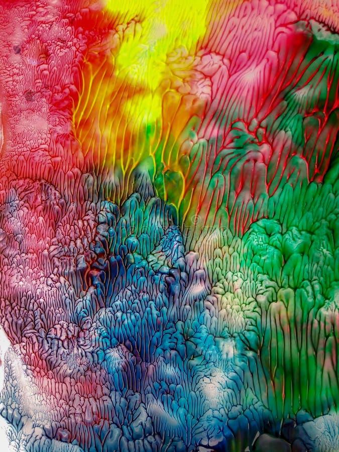 Abstrakcjonistycznej akwareli plam akwareli żywi kolory bryzgają tło royalty ilustracja