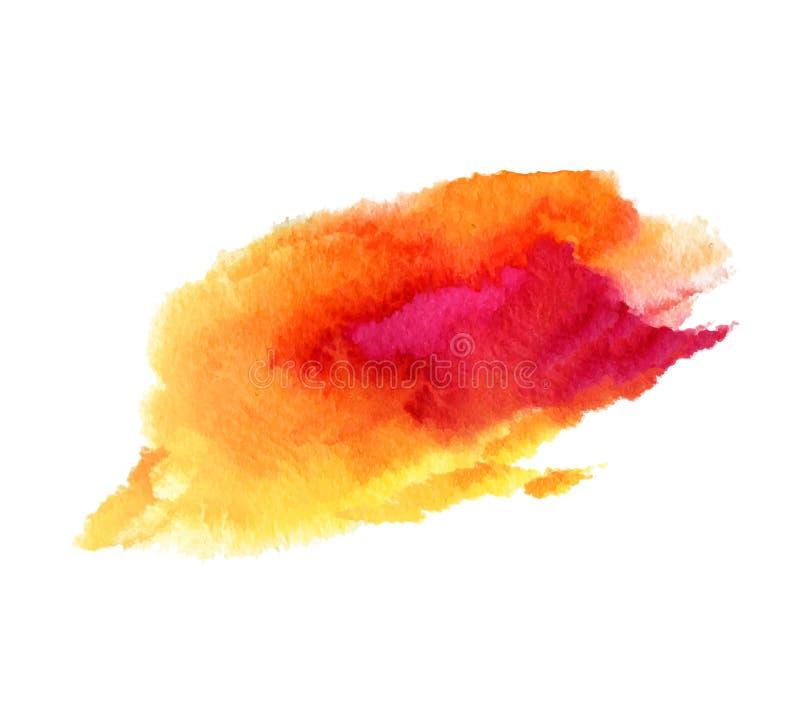Abstrakcjonistycznej akwareli plamy mokra wektorowa tekstura ilustracja wektor
