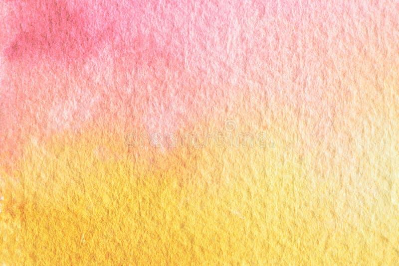 Abstrakcjonistycznej akwareli tekstury makro- tło Ręka malująca woda fotografia stock