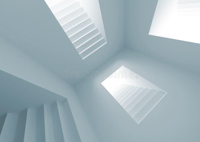 abstrakcjonistycznej architektury wewnętrzny oświetleniowy schodek ilustracja wektor