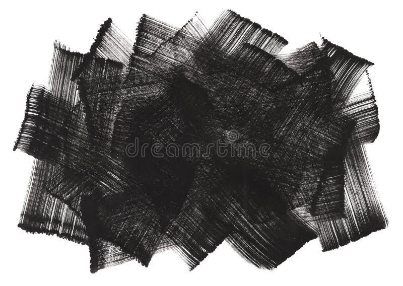 abstrakcjonistycznej atramentu brushwork obraz sztuki ilustracja wektor