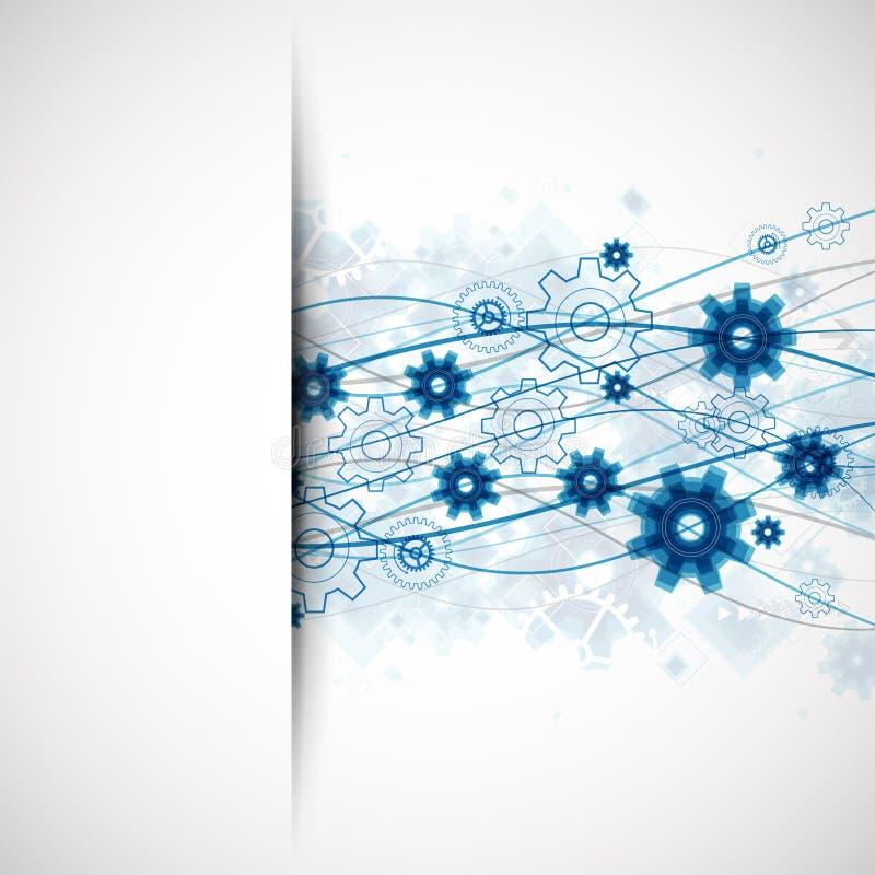 Abstrakcjonistycznej błękit fala technologii szablonu biznesowy tło royalty ilustracja