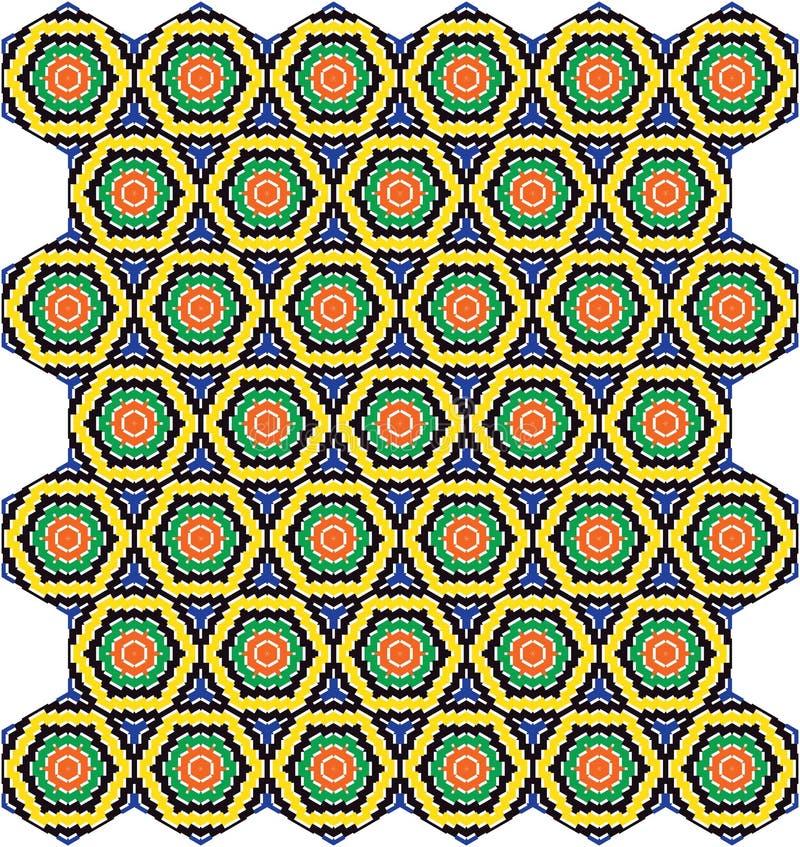 Abstrakcjonistycznej Bezszwowej Geometrycznej Heksagonalnej Honeycomb Kolorowej tkaniny Geometryczna Deseniowa tekstura ilustracji