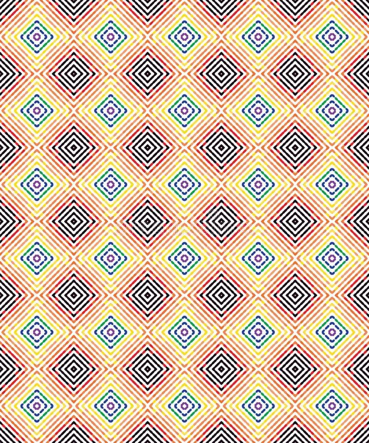 Abstrakcjonistycznej Bezszwowej rocznik płytki szkockiej kraty Kolorowej tkaniny Geometryczny wzór Texture_45 ilustracja wektor