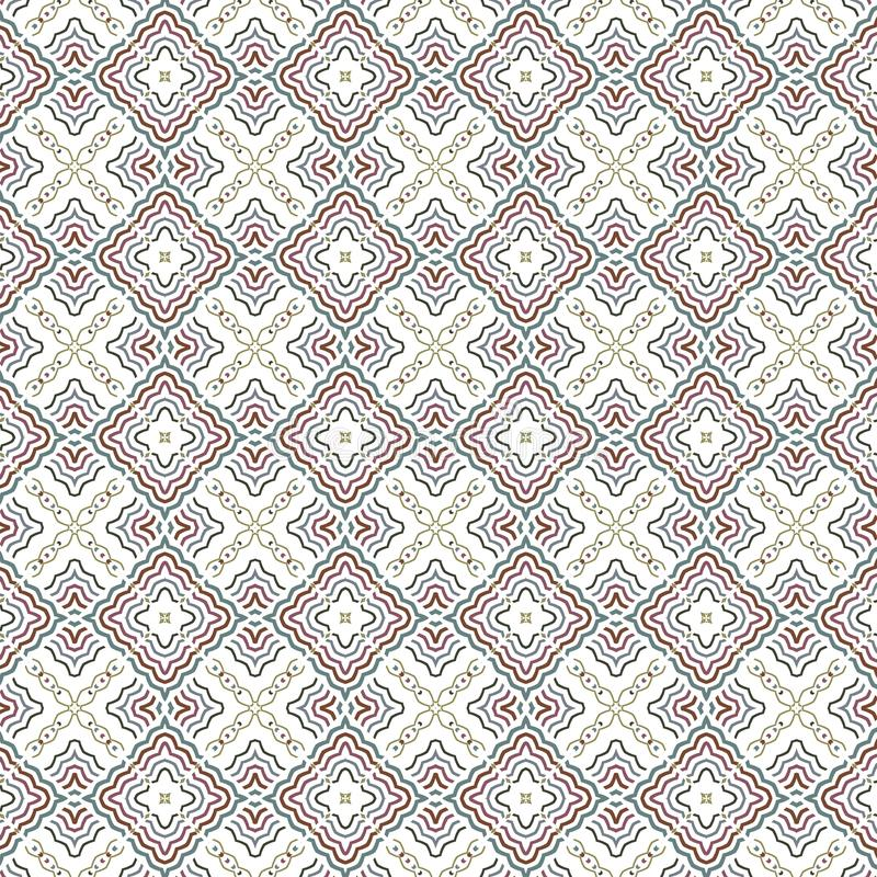 Abstrakcjonistycznej Bezszwowej szkockiej kraty Luksusowej siatki Wibrujący Deseniowy tło royalty ilustracja