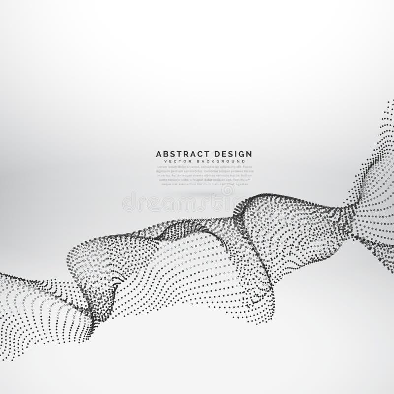 Abstrakcjonistycznej cząsteczki falowego wektoru dynamiczny tło ilustracji