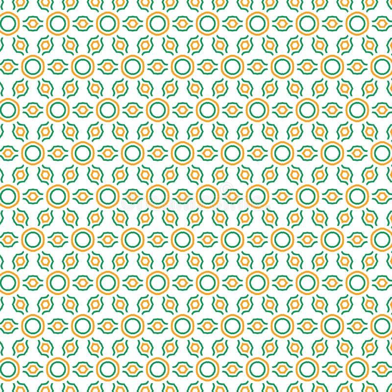 Abstrakcjonistycznej Etnicznej Geometrycznej Round szkocka krata wzoru tkaniny Ilustracyjny Bezszwowy Deseniowy tło ilustracja wektor