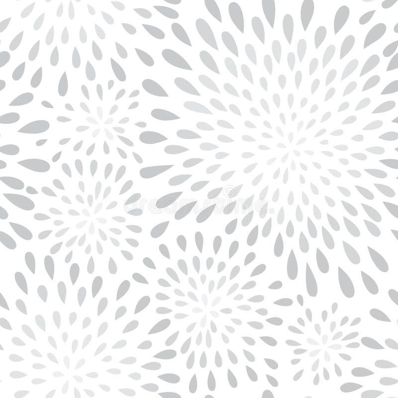 Abstrakcjonistycznej fajerwerku pluśnięcia kropki bezszwowy wzór Kwiat tekstura royalty ilustracja