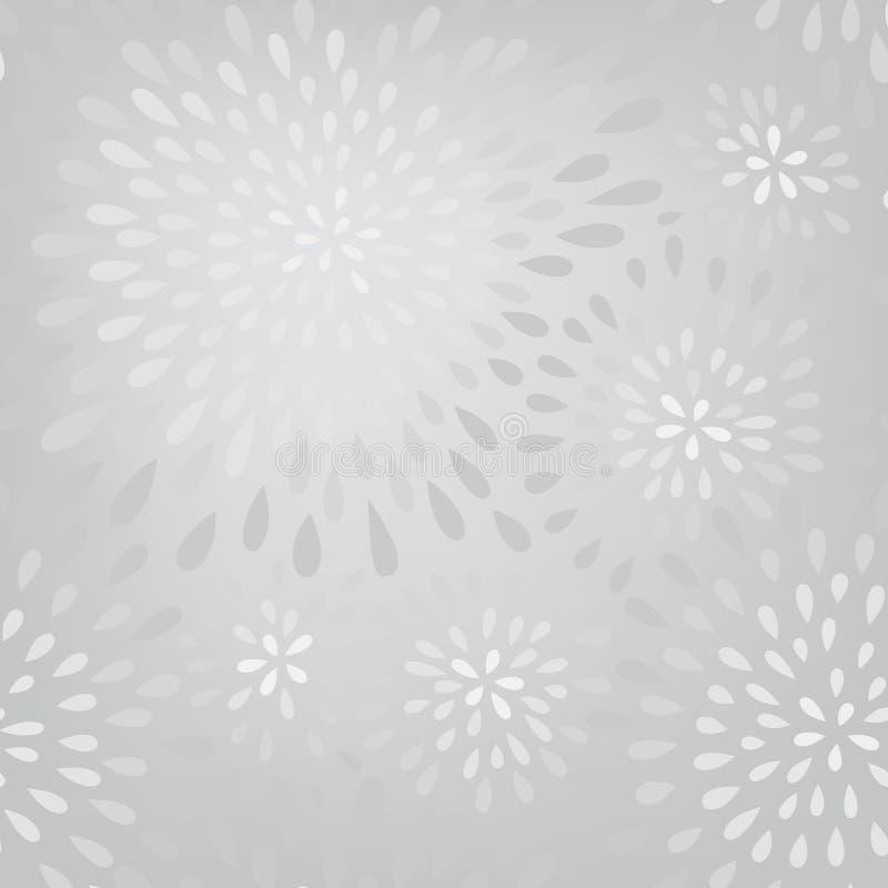 Abstrakcjonistycznej fajerwerku pluśnięcia kropki bezszwowy wzór Zawijasa kwiecisty płatek royalty ilustracja