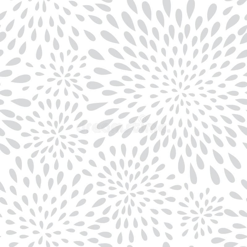Abstrakcjonistycznej fajerwerku pluśnięcia kropki bezszwowy wzór Zawijasa kwiecisty peta ilustracji