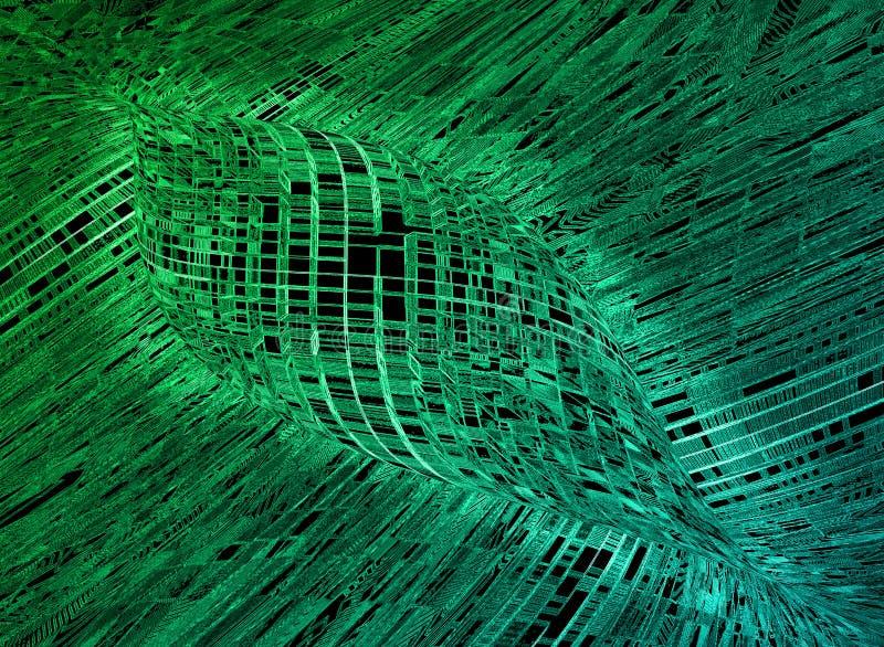 Abstrakcjonistycznej Futurystycznej technologie informacyjne tekstury Tapetowy tło royalty ilustracja