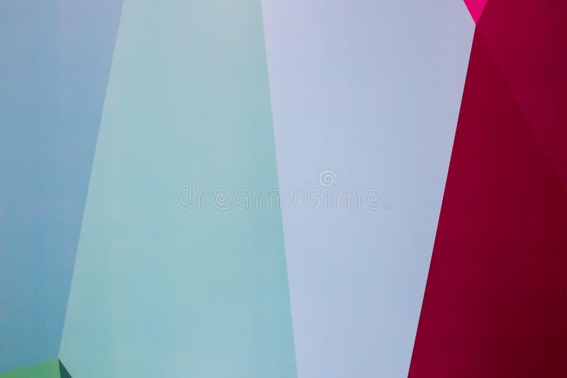 Abstrakcjonistycznej geometrii pionowo tapety Punchy pastele Błękita, mennicy i Burgundy colours, Projekt pokój wszystkie 3 tło z zdjęcia stock