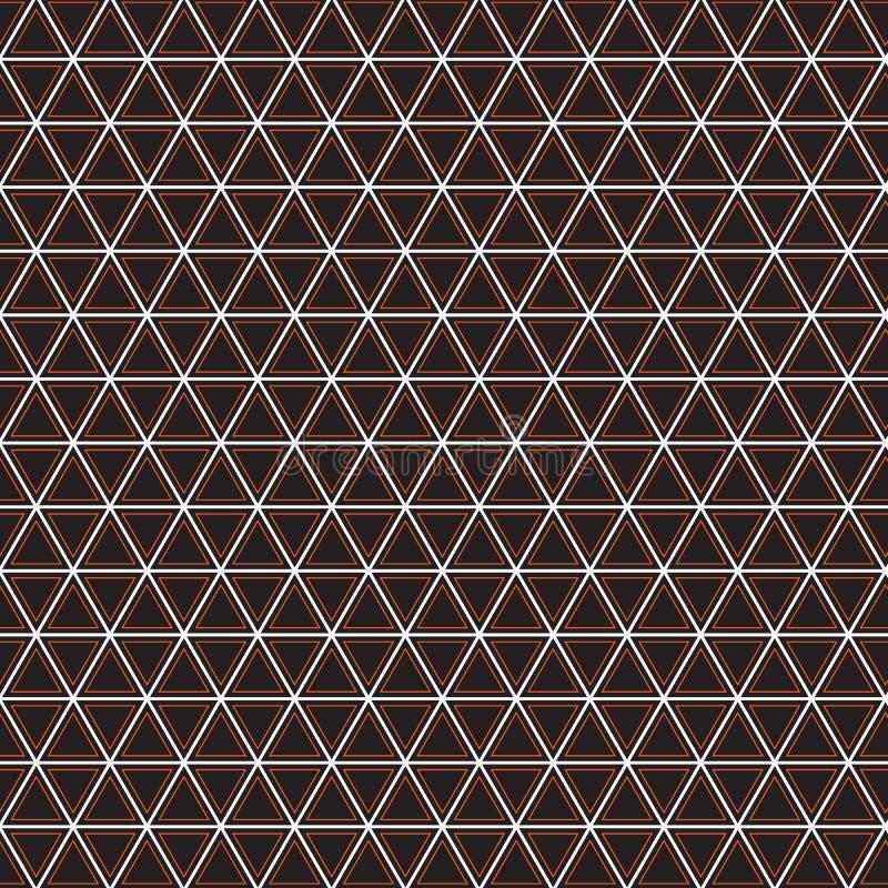 Abstrakcjonistycznej Geometrycznej trójbok szkockiej kraty Etnicznej tkaniny Ilustracyjny Bezszwowy Deseniowy tło ilustracja wektor