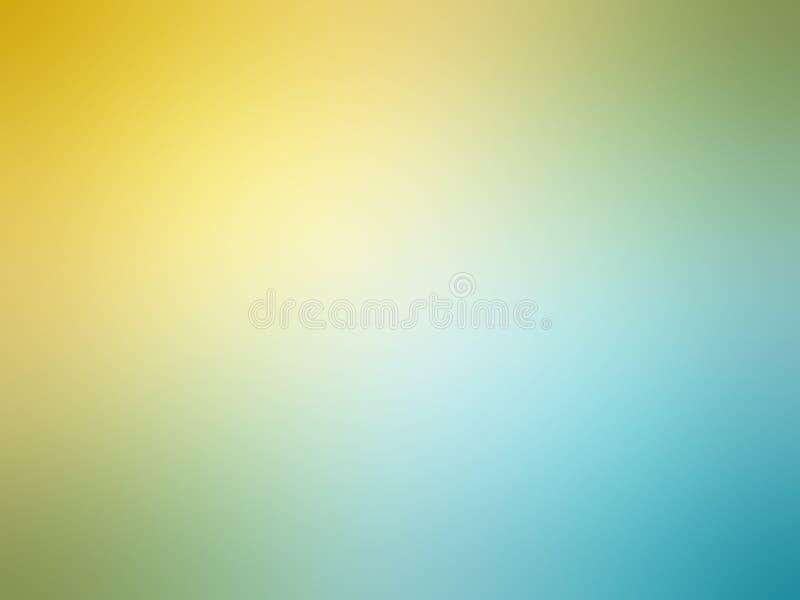Abstrakcjonistycznej gradientowej żółtej cyraneczki błękitny barwiony zamazany tło royalty ilustracja
