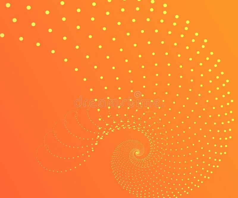 Abstrakcjonistycznej halftone fala kropkowany t?o Futurystyczny kręcony grunge wzór, kropka, okręgi Wektorowa nowożytna okulistyc royalty ilustracja