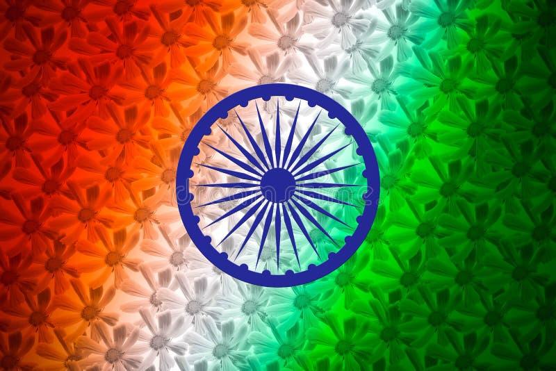 Abstrakcjonistycznej indianin flagi Kwiecisty tło ilustracja wektor