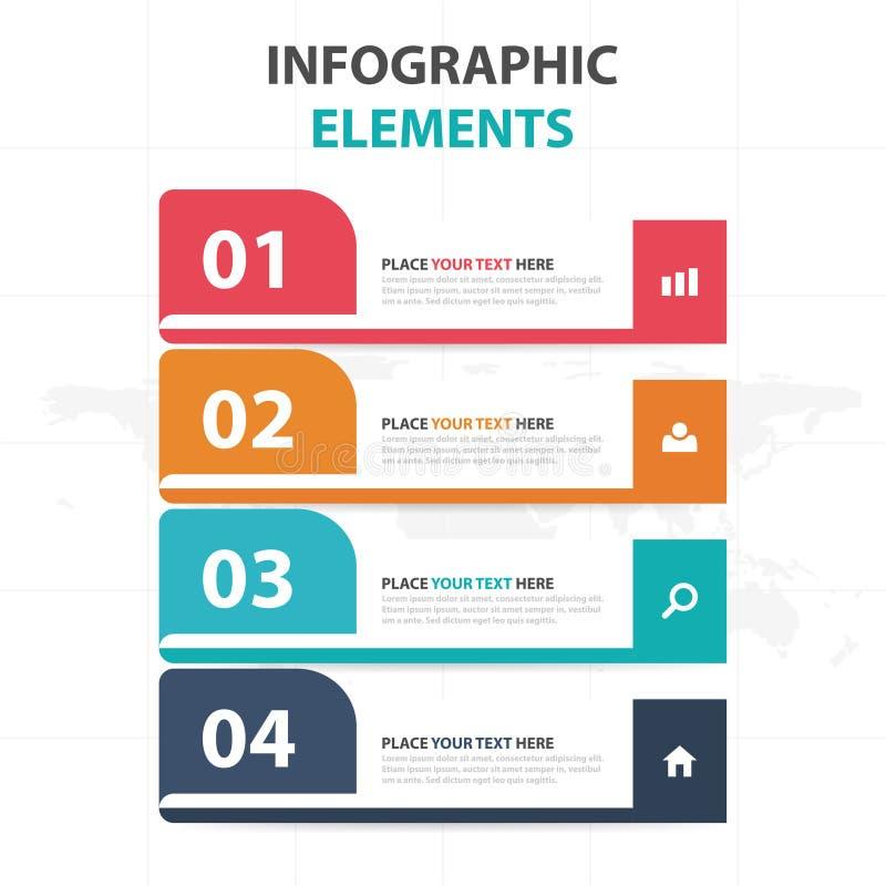 Abstrakcjonistycznej kolorowej etykietki linii czasu Infographics biznesowi elementy, prezentacja szablonu płaskiego projekta wek royalty ilustracja