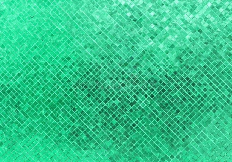 Abstrakcjonistycznej Luksusowej Błyszczącej Bławej Dennej ściany podłoga płytki mozaiki tła Szklana Bezszwowa Deseniowa tekstura  obrazy royalty free