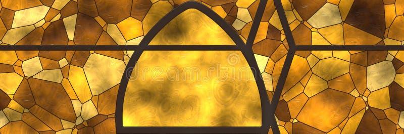 Abstrakcjonistycznej mozaiki architektury ceramiczna ?ciana fotografia stock