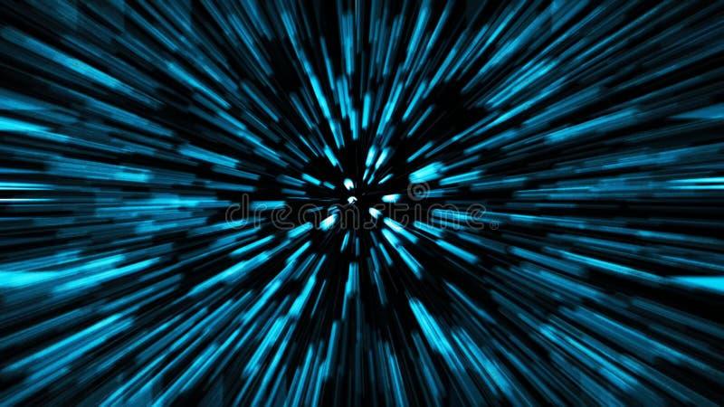Abstrakcjonistycznej nauki fikci czas i kosmos podróżujemy pojęcia tło długo ekspozycji ilustracji