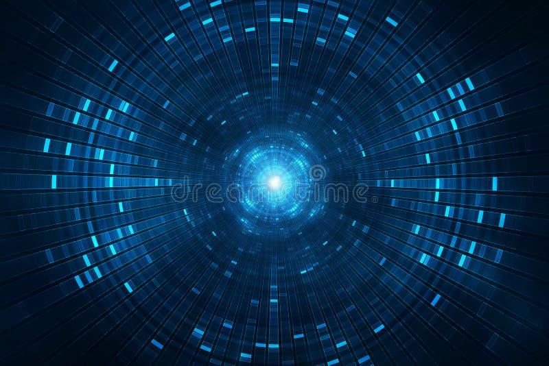 Abstrakcjonistycznej nauki fikci futurystyczny tło - collider cząsteczki akcelerator royalty ilustracja