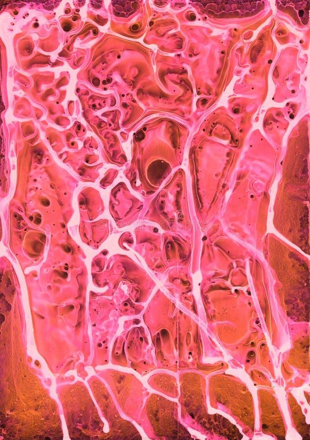 Abstrakcjonistycznej neonowej jaskrawej akwareli tekstury akrylowy tło zdjęcia royalty free