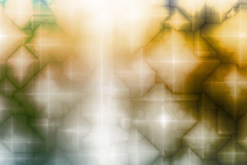 abstrakcjonistycznej niebieskiej tła fantazji magiczny żółty royalty ilustracja