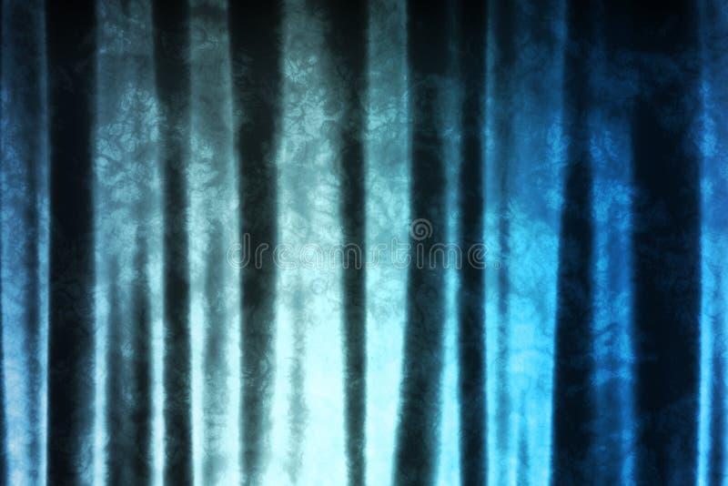 abstrakcjonistycznej niebieskiej tła tekstyliów magicznego wzoru ilustracja wektor