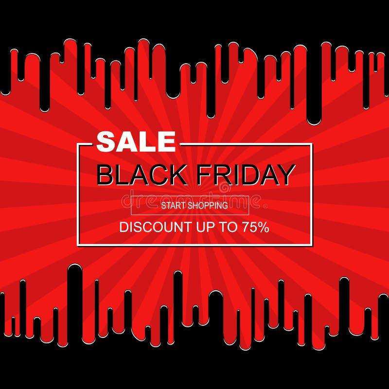 Abstrakcjonistycznej plakatowej Black Friday sprzedaży projekta wpisowy szablon royalty ilustracja