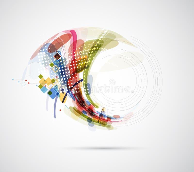 Abstrakcjonistycznej plamy informatyki biznesowy związek ilustracja wektor