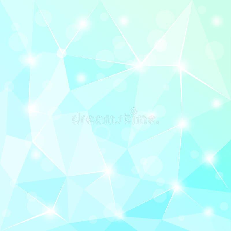 Abstrakcjonistycznej poligonalnej geometrycznej fasety tła Turkusowa ilustracja royalty ilustracja