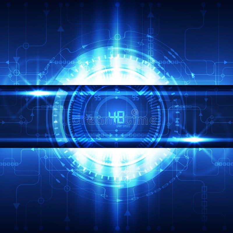 Abstrakcjonistycznej przyszłościowej technologii pojęcia cyfrowy tło, wektor ilustracja wektor